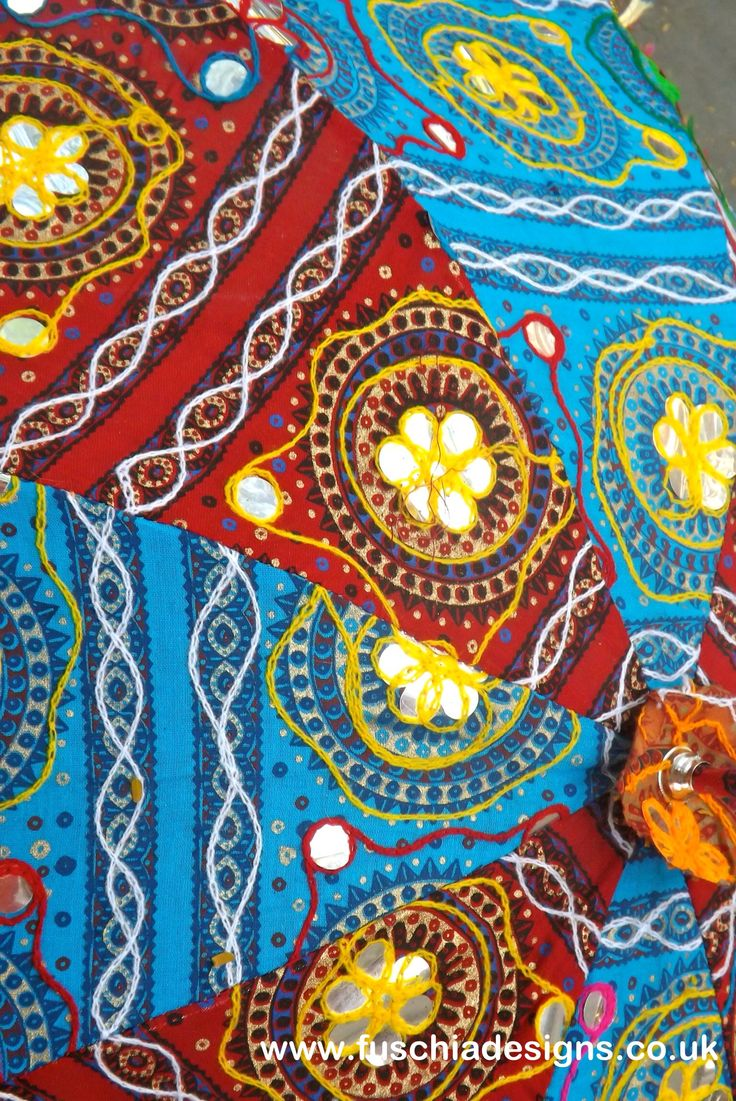Textile pattern taken from an embroiders umbrella We bought while on our shopping trip in the Jaipur markets. By www.fuschiadesigns.co.uk