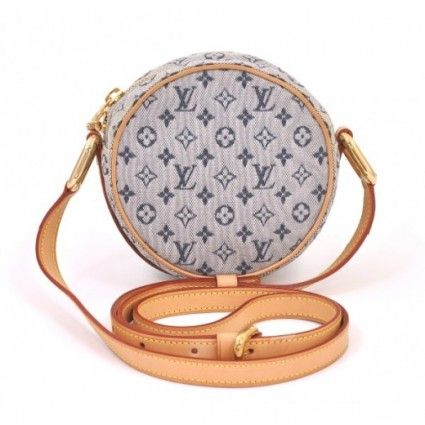 A Mini Monogram - how cute is this?!  Louis Vuitton Blue Mini Monogram Canvas Jeanne GM Shoulder Bag