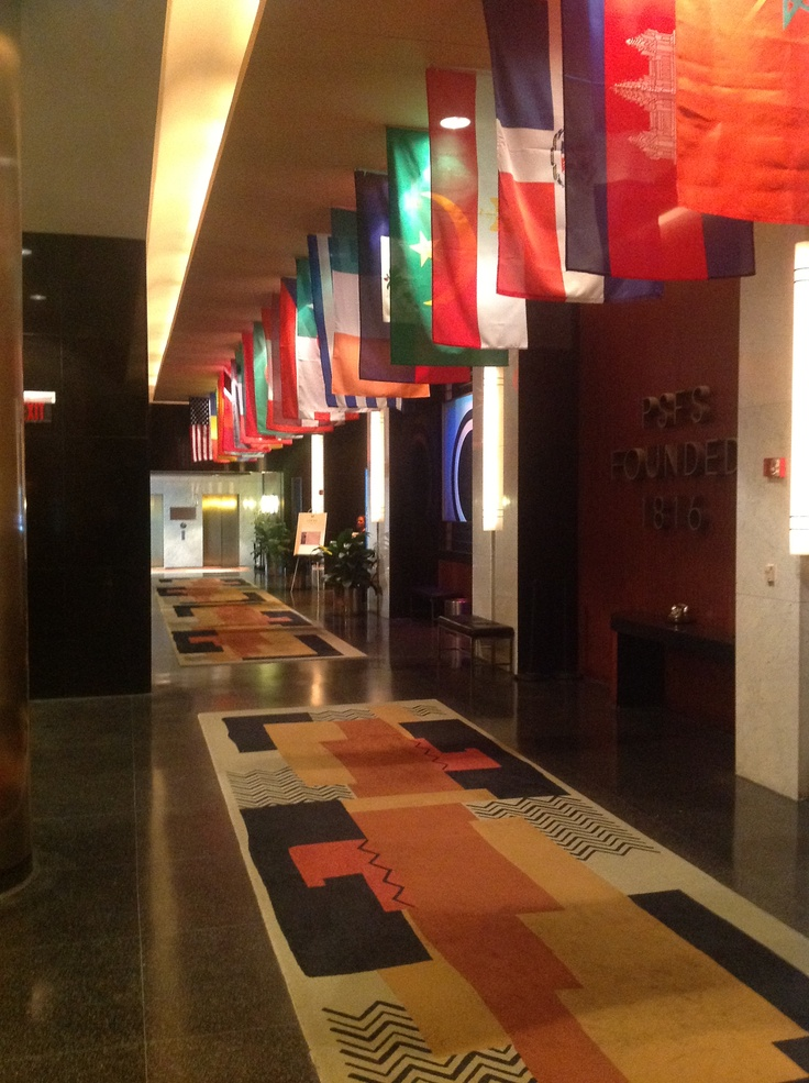 @Loews Philadelphia Hotel is celebrating the Olympics with a flag display in their lobby and some Olympic inspired food and drinks at SoleFood.
