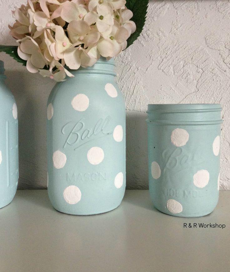 DIY Polka Dot Jars