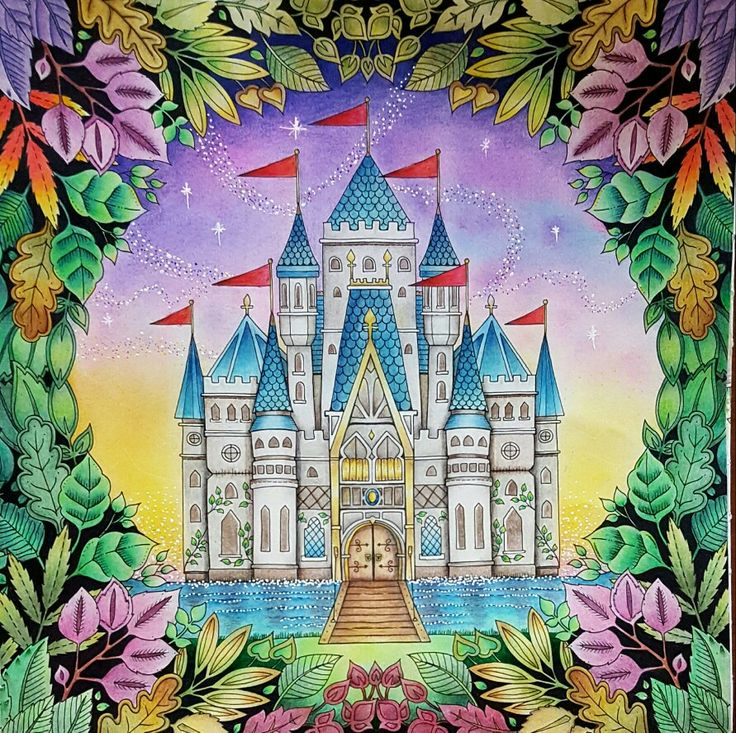 Enchanted Forest By Johanna Basford Coloured Esther Joanna BasfordAdult ColoringColoring BooksColouringCastleOcean