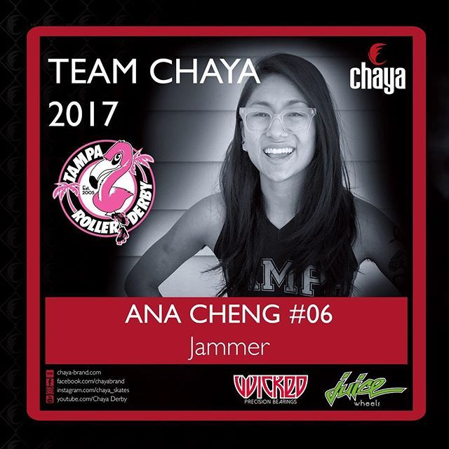 Meet Ana Cheng... the first of our 2017 roller derby team announcements ❤️ Stay tuned to this page all week as we announce our full team. #itstime . .  SKATE NAME: Ana Cheng TEAMS: Tampa Tantrums + Team Florida PREVIOUS TEAM: Tampa Juniors POSITION: Jammer YEARS PLAYING DERBY: This is my 8th season! (Whoa) SPORTS BACKGROUND: Mathlete DAY JOB: Student (Chemistry) DERBY ACHIEVEMENTS: 2016 Tampa Tantrums MVP Jammer PUMP UP SONG: Bitch Better Have My Money - Rihanna GAME DAY RITUAL: I eat one…