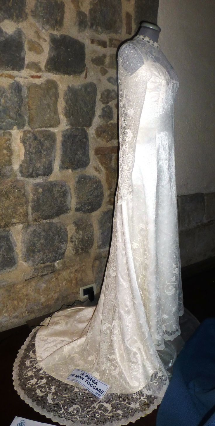 Amazing crochet lace wedding dress in the Orvieto style. This took a mother and daughter 2.5 years to make.