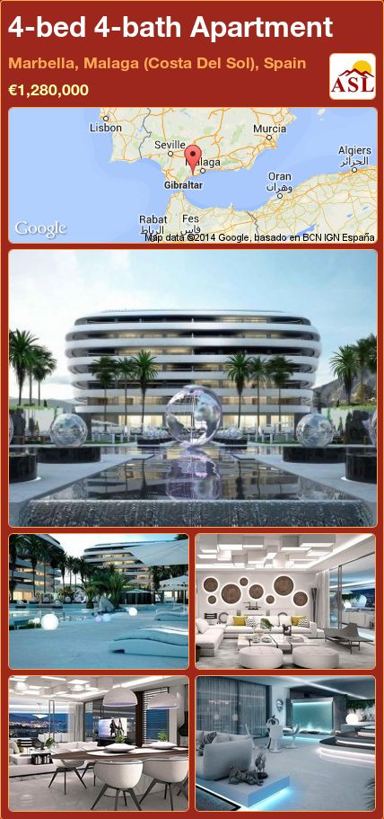 4-bed 4-bath Apartment in Marbella, Malaga (Costa Del Sol), Spain ►€1,280,000 #PropertyForSaleInSpain