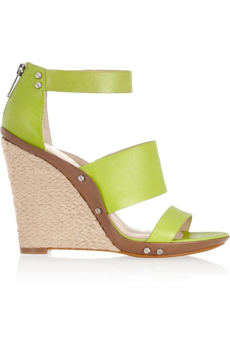 Kors Michael KorsKors Michael, Leather Wedges, Fashion, Style, Kors Eliza, Eliza Leather, Summer Shoes, Michael Kors, Wedges Sandals