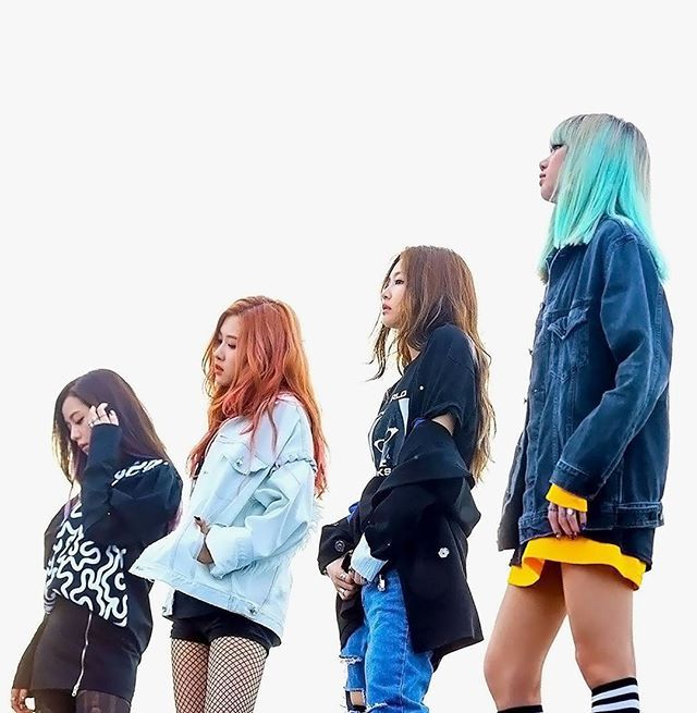 BLACKPINK | STAY | SQUARE TWO...dat bright blue hair tho