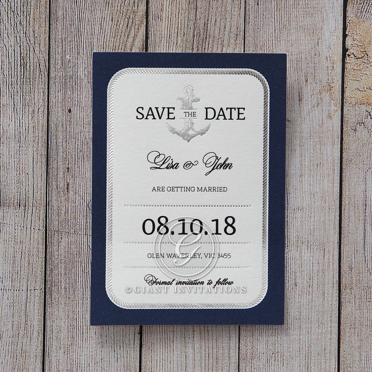cruise wedding save the date announcement%0A The perfect nautical save the date for your seaside wedding  savethedate   weddingstationery  anchor