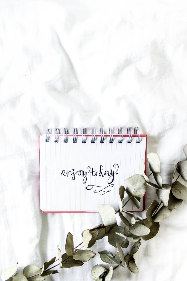 Enjoy today  | Handwritten calligraphy | Modern calligraphy