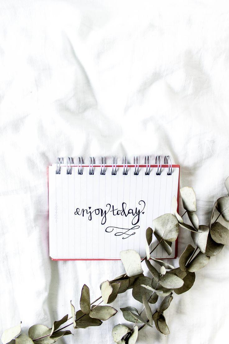 Enjoy today    Handwritten calligraphy   Modern calligraphy