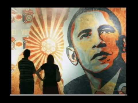 "Shepard Fairey on CBS Sunday Morning News - ""OBEY"" T-shirt artist - Good for group discussion on: Street art and copy rights."