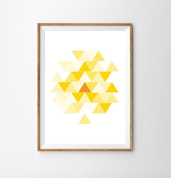 Cette belle impression géométrique viendront égayer nimporte quelle pièce ! Il peut saccrocher simplement sur ses propres, ou encadrée pour