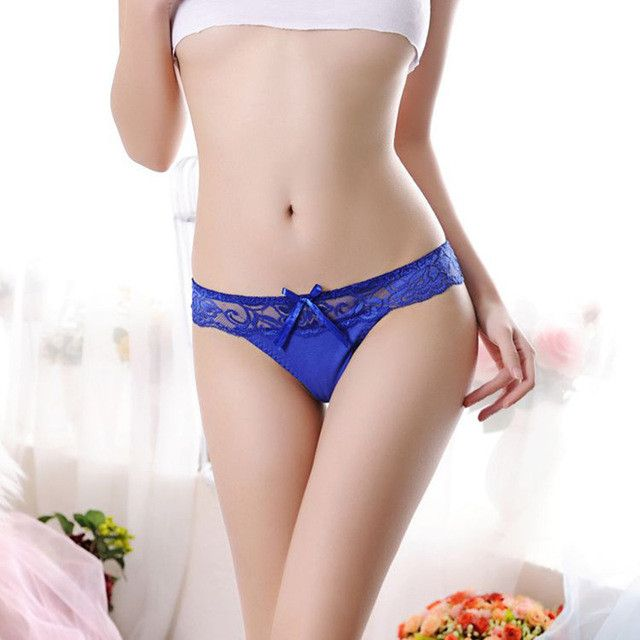 iMucci Fashion Sexy Women Thongs G-string Lace Cutton Floral Sheer Underwear Soft Lingerie Briefs Panties