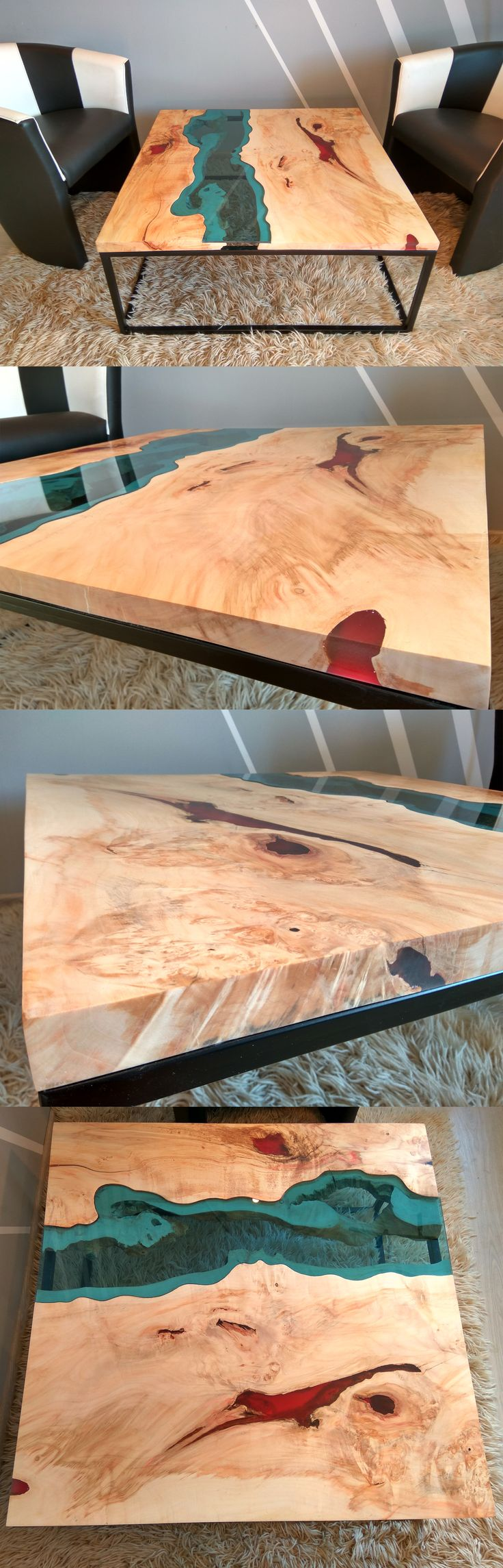 sold live edge river coffee table with red epoxy inlay sold glasses metals and legs. Black Bedroom Furniture Sets. Home Design Ideas