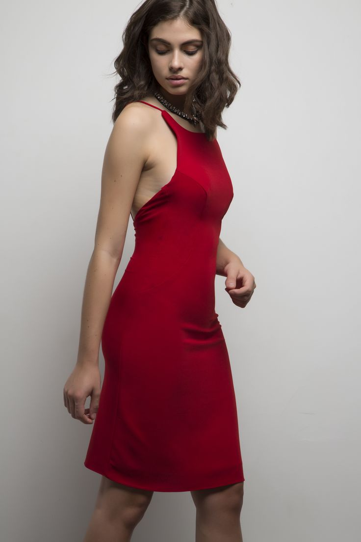 Maria Dress. Available in royal blue, lunar rock, black, red, cream and blush pink.