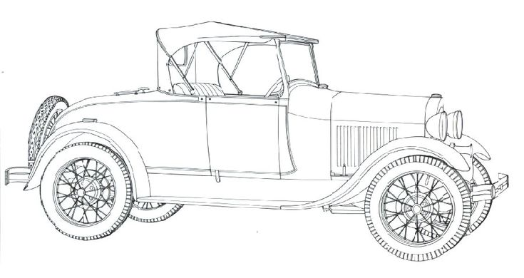 classic car coloring pages   model a ford 1928
