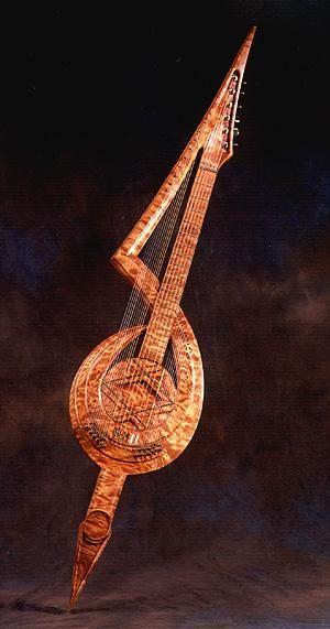 Electric harp guitar