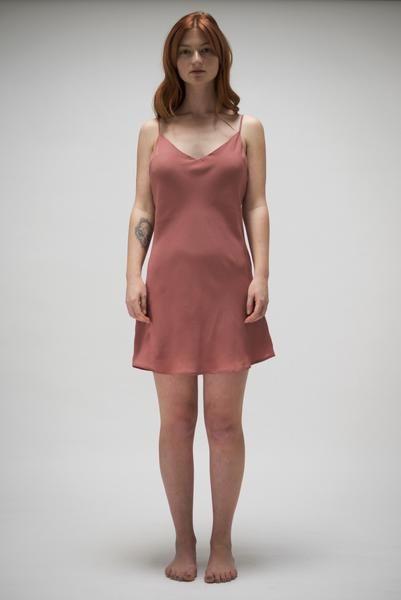 Smoky Pink Slip Dress