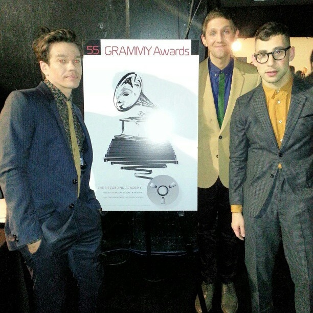 fun. backstage at #GrammyNoms - @thegrammys- #webstagram