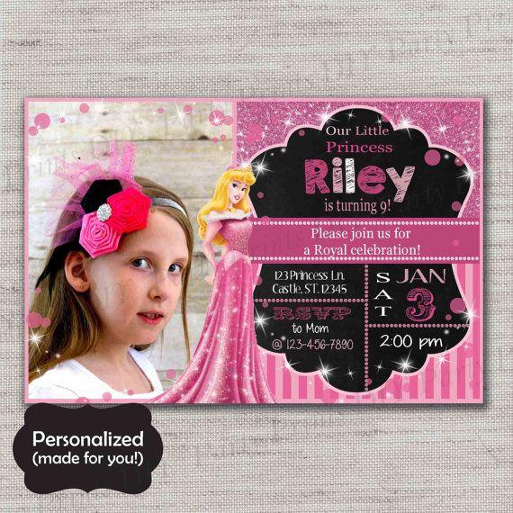 Sleeping Beauty invite,Aurora Birthday invitation,JPG file,Birthday Invite,Sleeping Beauty invitation,Aurora,Briar Rose,Princess,DPP122