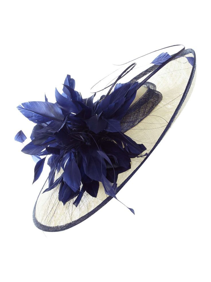 18882b54496a7 Suzanne Bettley Feather And Coque Detail Brim On Hat - House of Fraser -  horse racing