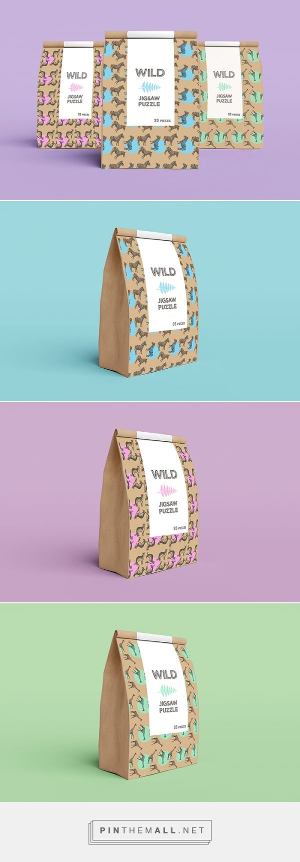 Wild Jigsaw Puzzle by Lizzie Jackson. Source: Daily Package Design Inspiration. Pin curated by #SFields99 #packaging #design