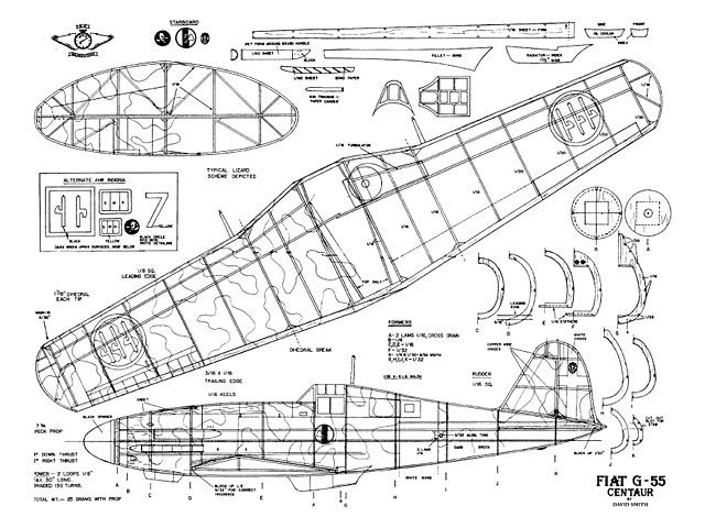 Fiat G55 Centaur - plan thumbnail