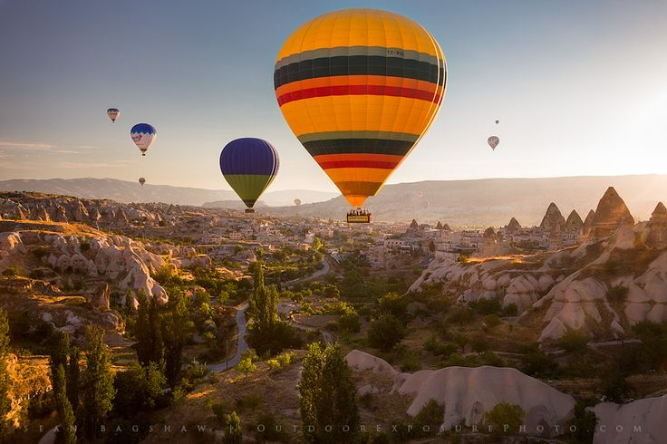 Hot air ballooning over the Cappadocia region of central Turkey. Photo by Sean Bagshaw.