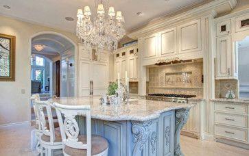 New Orleans Blue - Classico - Cucina - san diego - di Design Moe Kitchen & Bath / Heather Moe designer
