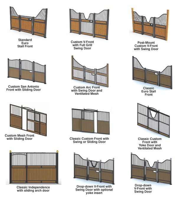 Horse stall fronts gates i like the ones that dip so for Horse barn designs