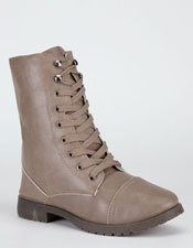 BLUE Womens Military Boots - #military #boots