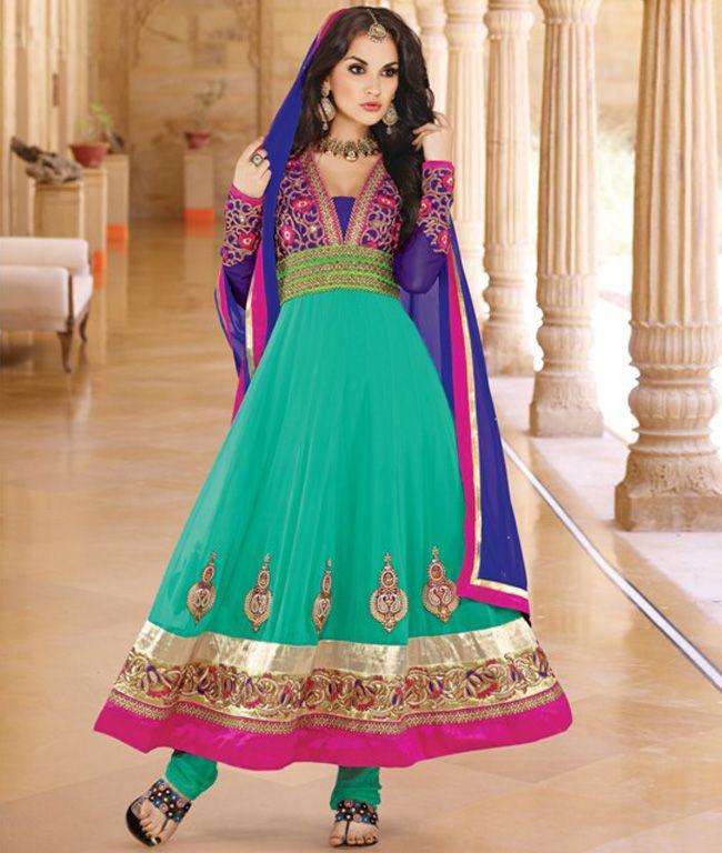 Be a celebrity wear #AnarKali_Suits...