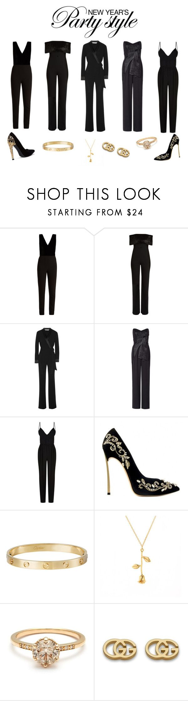 """New years outfit inspo"" by idahedbom on Polyvore featuring Elie Saab, Galvan, Diane Von Furstenberg, IDRA, Nicholas, Cartier and Gucci"