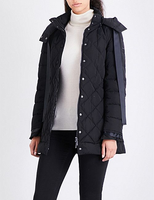 ARMANI JEANS Ribbon-detailed quilted shell jacket