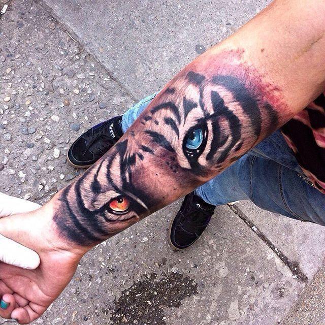 Pin By Katrina Oke On Tattoo Ideas Tattoos Tiger Tattoo Forearm