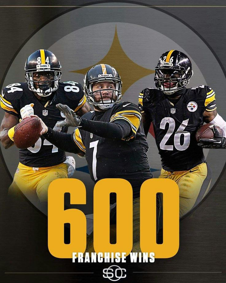 STEELERS JOIN THE BEARS,PACKERS, & GIANTS,AS THE ONLY FRANCHISE TO WIN 600 GAMES