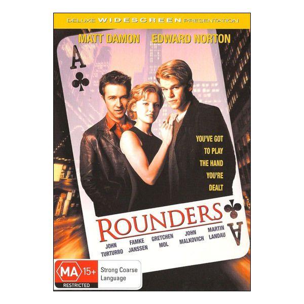 Rounders DVD Brand New Region 4 Aust. - Matt Damon, Edward Norton