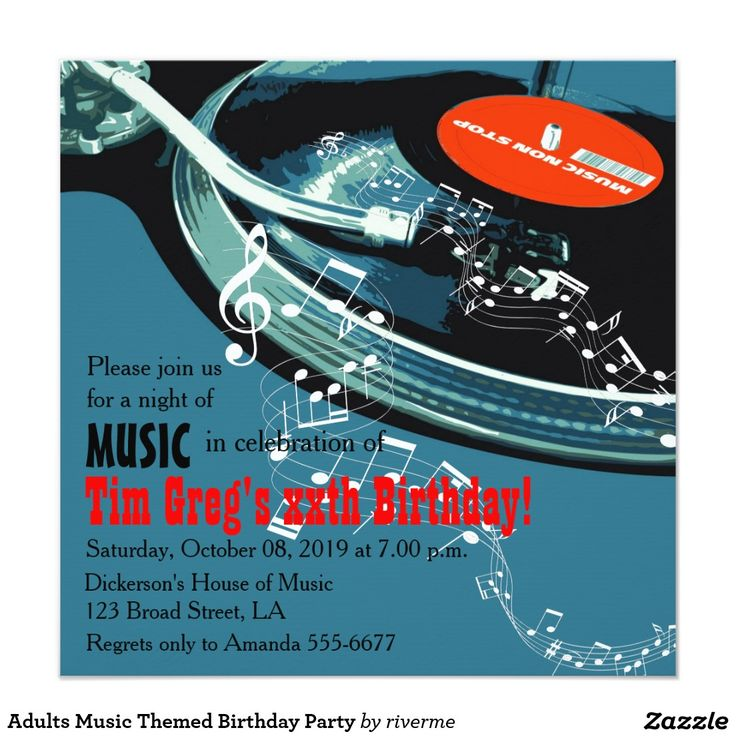 65 Best DJ Party Invitations Images On Pinterest