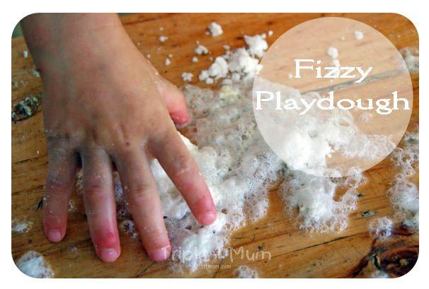 {Triple T Mum} Fizzy Playdough using simple pantry items.