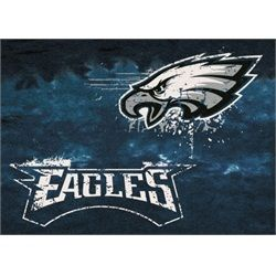 "Philadelphia Eagles Rug Team Fade Mat. Make a statement in any room with this large floor area rug. This rug measures 3'10"""" x 5'4"""" and will fit well with any decor. This Eagles rug features the team"