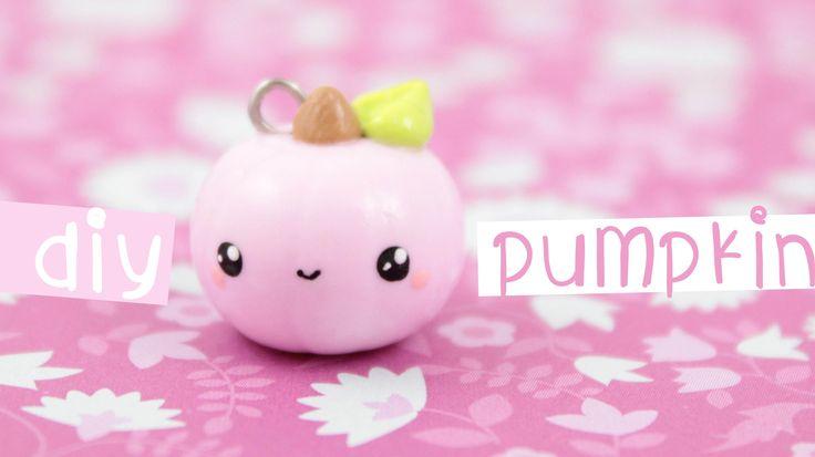 DIY Cute Polymer Clay Pumpkin Charm Tutorial