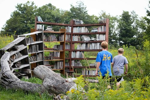 From trees to books stacks by david harper stone quarry for Teich design new york