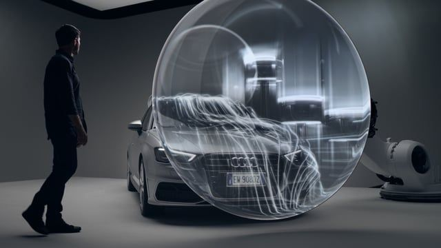 Audi approached Autofuss to promote their new A3 Sportback, utilizing their expertise in advanced 3D projection mapping.  Two canvases controlled by industrial robots were transformed into lenses augmenting Audi's state of the art technology within the car. The entire spot was projected live and captured in camera.  Lead by  Design Director GMUNK, Michael Rigley, Jason Kerr, Ryan Chen and I were each tasked with designing and animating a section. I was responsible for the connectivity sec...