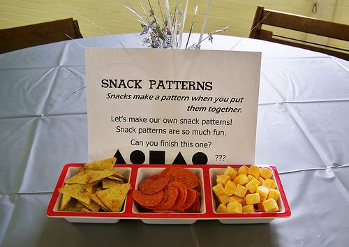 blog with umi-party ideas.  Love the snack patterns!