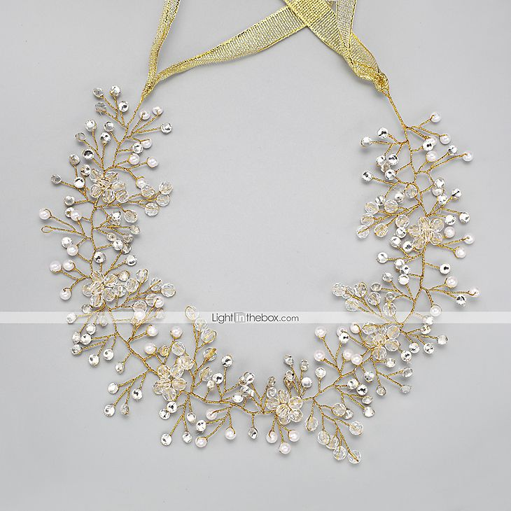Women's Rhinestone Crystal Imitation Pearl Headpiece-Wedding Special Occasion Headbands 1 Piece 5324786 2017 – $11.99