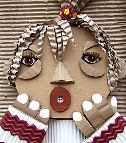 Corrugated Cardboard mask