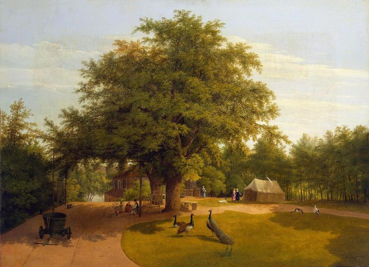 Author: Lütke, Peter Ludwig. 1759-1831  Title:  Pfaueninseln  Place: Germany  Date: 1821  Material: canvas  Technique:  oil  Dimensions:  50x68 cm