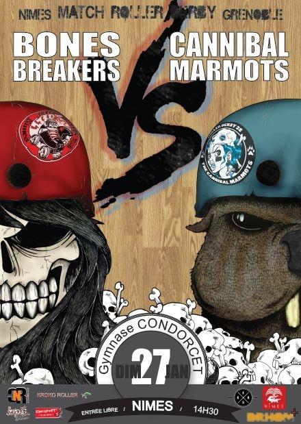 Match de Roller Derby Bones Breakers VS Cannibal Marmots - Dimanche 27 novembre à 14h30