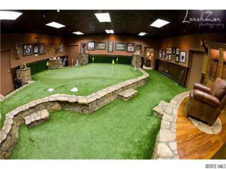 Man Cave Putting Green, Indoors