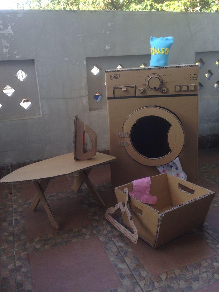 cardboard washing machine, for loundry time