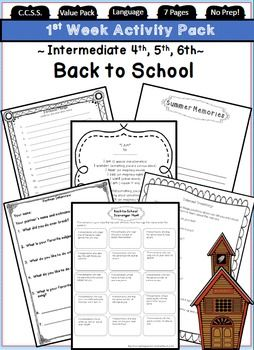 Back to School Ideas and First Day of School Activities for the 4th grade, 5th grade, & 6th grade classroom. Includes: Interest Inventories, Partner Interviews, All About Me Poems, & More! https://www.teacherspayteachers.com/Product/Back-to-School-4th-5th-6th-Grade-First-Day-of-School-Activities-1672989 (fourth, fifth, & sixth grade ~ First week of school activities)